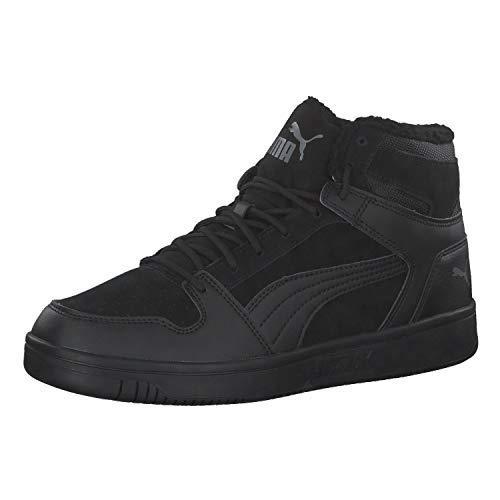 Puma Herren Rebound LayUp SD Fur Sneaker, Black-Castlerock 01, 45 EU