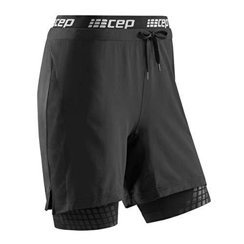 CEP - Training 2IN1 Shorts 3.0 für Damen | Kurze Trainingshose mit Kompression in schwarz | Größe M