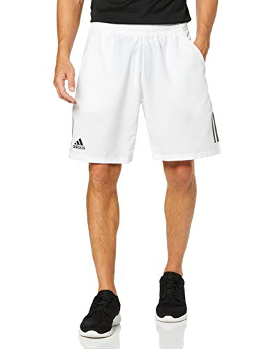 adidas Herren Club 3-Streifen Shorts, White/Black, L