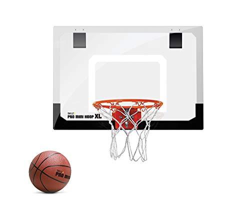 SKLZ Pro Mini Basketballkorb fürs Zimmer mit Ball, Basketball Training, Mini Basketball, Mit Schutzpolster und Türhaken, Mehrfarbig, XL