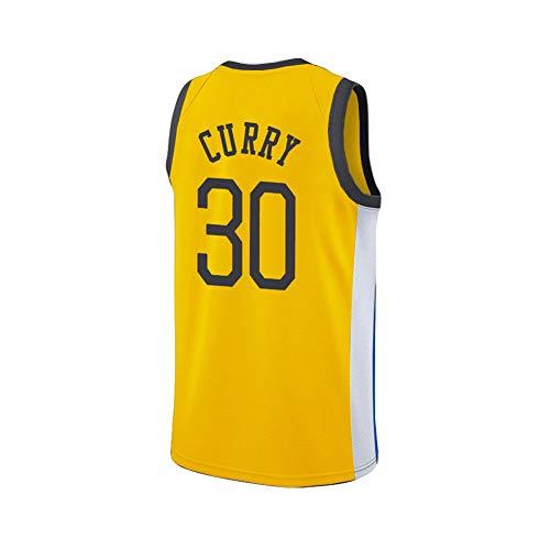 YYFZ Stephen Curry Warriors # 30 Basketball Trikot Herren Damen Erwachsene Geschenke für die Familie Gr. XS, gelb