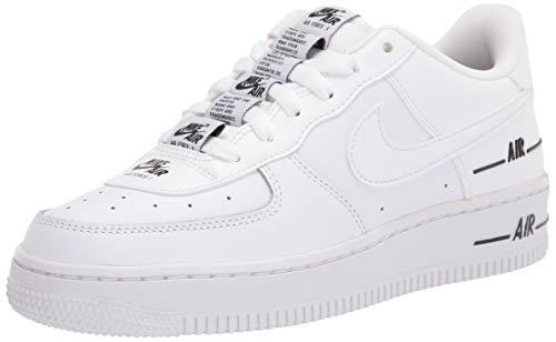 Nike Boys AIR Force 1 LV8 3 (GS) Basketball Shoe, White/White-Black