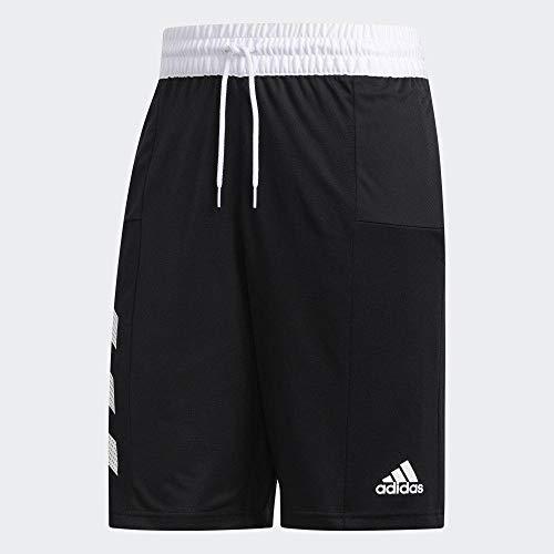 adidas Herren Spt 3s Short kurze Hose, schwarz/weiß, L