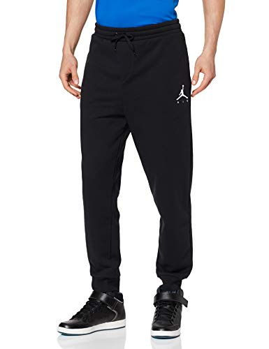 Nike Air Jordan Herren Jumpman Fleece  Hose, , Schwarz (Black/White 010),M