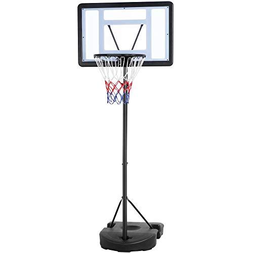 Yaheetech Basketballständer Basketballkorb mit Rollen Basketballanlage Höhenverstellbar Korbanlagen für Kinder und Erwachsene