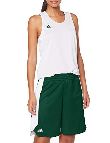 adidas Damen Reversible Crazy Explosive- Shorts, Grün (Dark Green/White), S