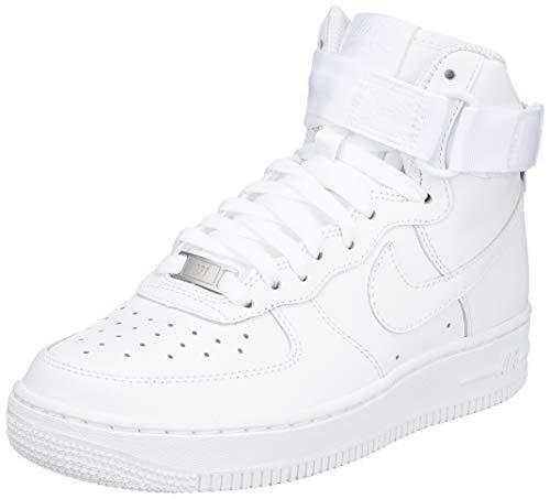 Nike Damen WMNS Air Force 1 High 334031-105 Fitnessschuhe, Weiß (White/White/White 105), 38.5 EU
