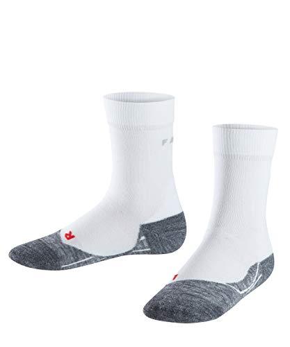 FALKE Kinder Laufsocken RU4, kurze Sportsocken mit Baumwolle, 1 er Pack, Weiß (White-Mix 2020), 31-34