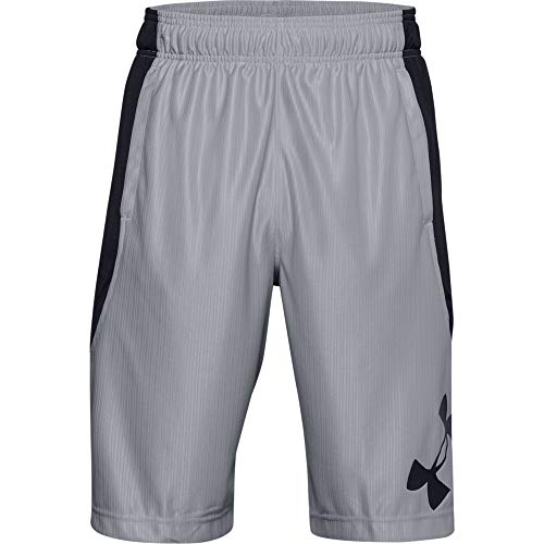 Under Armour Herren Perimeter Basketball-Shorts, Herren, Shorts, Perimeter Basketball Short, Mod Gray (012)/Schwarz, 4X-Large