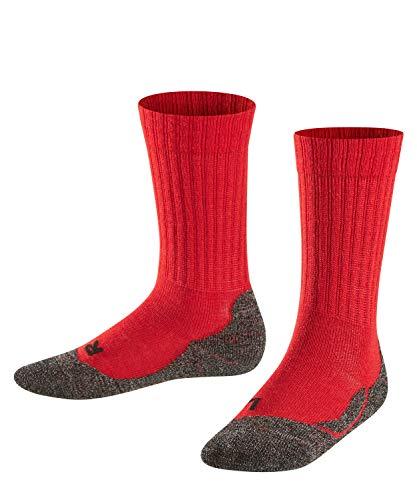 Falke Unisex Kinder Socken, Active Warm K SO -10450, Rot (Fire 8150), 31-34