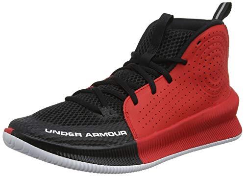 Under Armour Herren UA Jet Basketballschuhe, Schwarz (Black/Red/White (003) 003), 47.5 EU