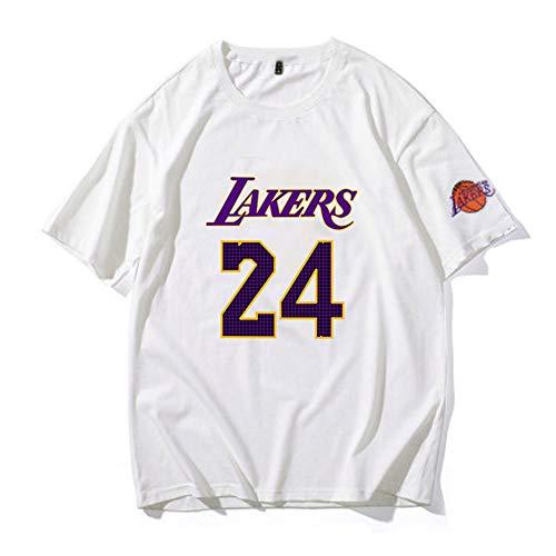 (Weiß) Basketball Trikot Lakers # 24 Bryant Basketball Trikot aus atmungsaktivem und schnell trocknendem Material für Sportfans-S