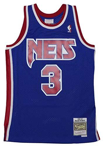 Mitchell & Ness NBA Brooklyn Nets Swingman 2.0 Drazen Petrovic Trikot Herren blau/rot, L