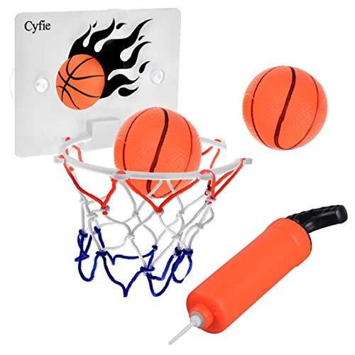 CYFIE Mini Basketballkorb mit Bälle und Pumpe, Mini Büro Basketballkorb mit Saugnapf Sport Basketball beim Büro Zimmer für Kinder