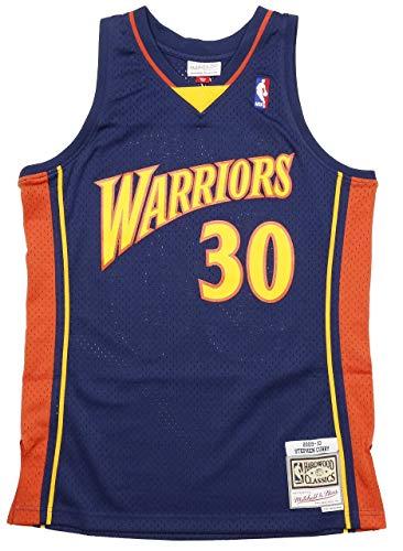 Mitchell & Ness Stephen Curry #30 Golden State Warriors 2009-10 Swingman NBA Trikot Navy, M