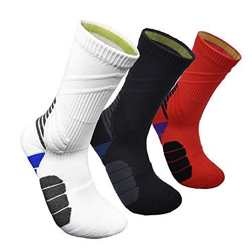 Performance Elite Basketball Socken Herren Athletic Crew Socken - Cushion Sport Socks - mehrfarbig - Large