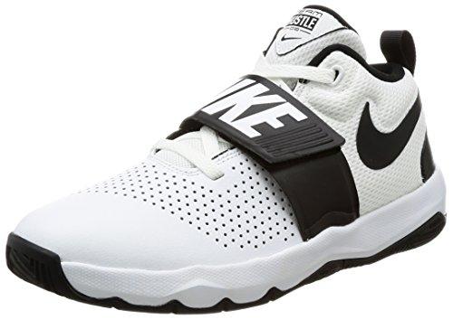 Nike Jungen Team Hustle D 8 (Gs) Basketballschuhe, Elfenbein (White/black), 38.5 EU