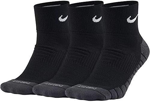 Nike - Dry Cushion Quarter 3 Paar Herren Trainingssocken- Gr. M (38-42 EU), Schwarz (Schwarz/Anthrazit/Weiß)