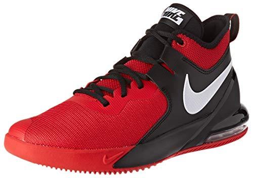 Nike Mens AIR MAX Impact Basketball Shoe, University Red/White-Black, 43 EU