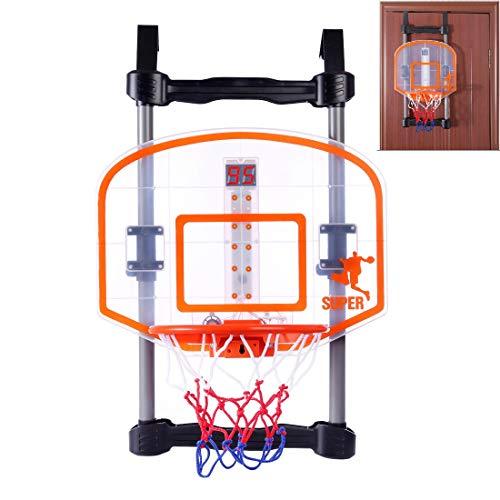 TETAKE Basketballkorb Kinder, Basketballkorb fürs Zimmer, Basketballkorb Tür Hängen, Mini Basketballkorb mit Scoring Gerät Timer