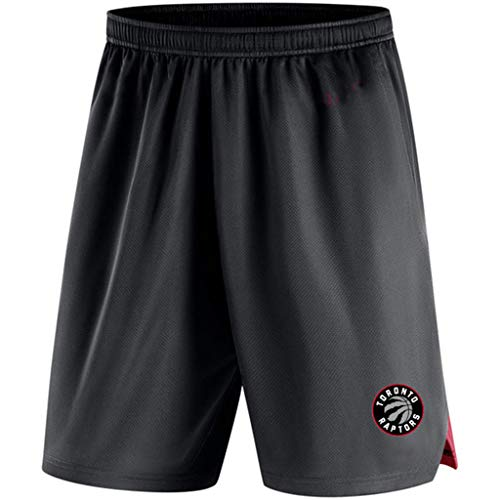 JNTM Mens Sport Shorts NBA Toronto Raptors Leichtathletik Basketball Training Gestrickte Jogginghose Strandkurzschlüsse Für Jugend-Sommer Mit Tasche Black-L