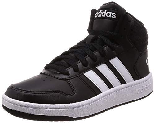 adidas Herren Hoops 2.0 Mid Fitnessschuhe, Schwarz (Negbás/Ftwbla/Negbás 000), 43 1/3 EU