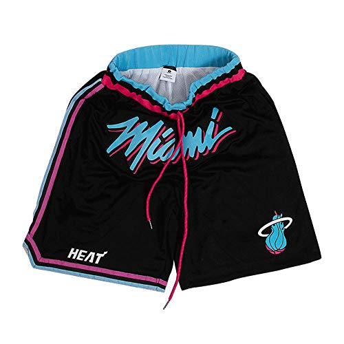 Generics Herren Basketball Shorts Miami Wade Basketball Shorts Stickerei Atmungsaktiv Doppelgewebe Gute Elastizität Geeignet für Basketball Fitness, xxl