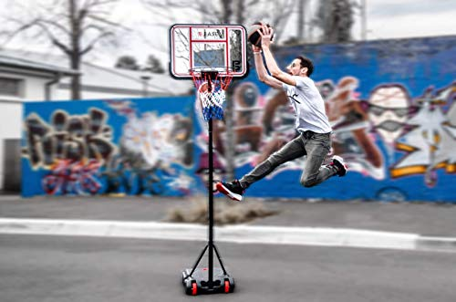 Netsportique B-Ease Basketballständer/Basketballkorb - Mobil und Höhenverstellbar - Indoor/Outdoor