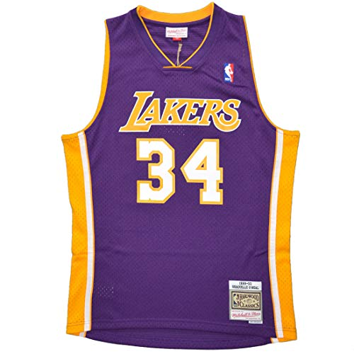 Mitchell & Ness Swingman Jersey Los Angeles Lakers Shaquille O'Neal #34 Purple 99-00 L