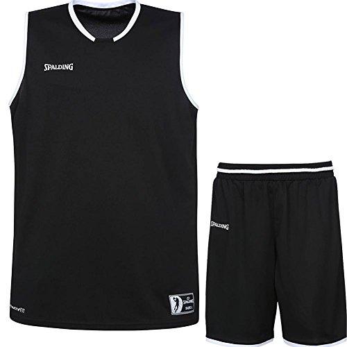 Spalding Basketball Kombi Trikot Set Move Trikot + Shorts für Kinder und Erwachsende (schwarz/weiß, 140)