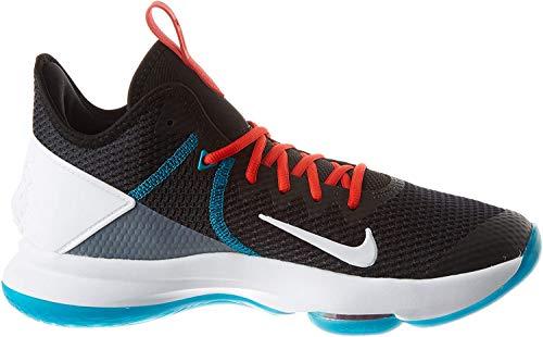 Nike Mens Lebron Witness IV Basketball Shoe, Black/White-Chile Red-Glass Blue, 47.5 EU