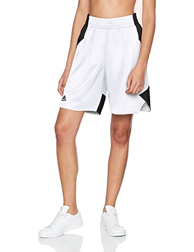 adidas Damen Shorts Crazy Explosive, White/Black, L, BQ7816
