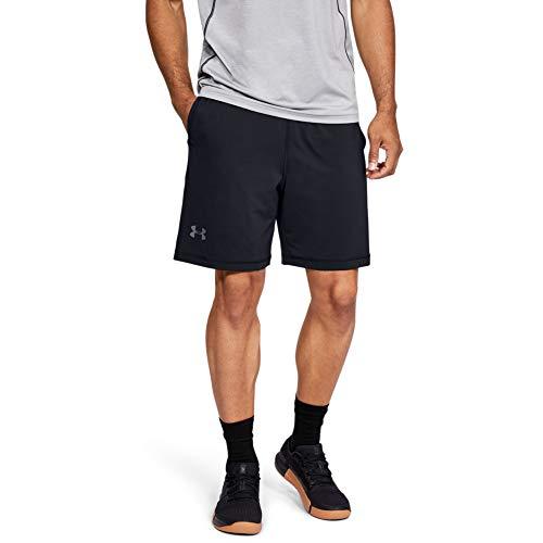 Under Armour Herren UA RAID 8 Shorts ultraleichte und atmungsaktive Sporthose, schnelltrocknende Sportshorts mit loser Passform, Schwarz, Large