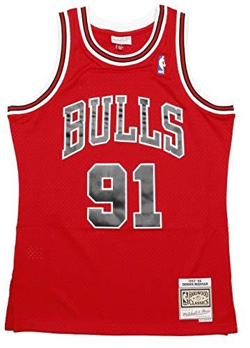 Mitchell & Ness Dennis Rodman #91 Chicago Bulls 1997-98 Swingman NBA Trikot Rot, L