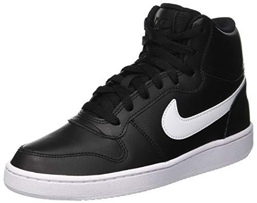 Nike Damen Ebernon Mid Basketballschuhe, Schwarz (Black/White 001), 38 EU