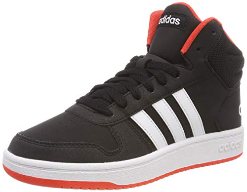 adidas Unisex-Kinder Hoops 2.0 Mid Fitnessschuhe, Schwarz (Negro 000), 38 EU