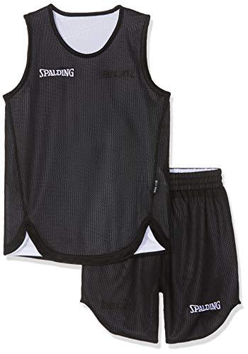 Spalding Kinder DOUBLEFACE KIDS SET Kinder Trikot&shorts Set Trikot Doubleface Set, Mehrfarbig (Reversible Black/White), S
