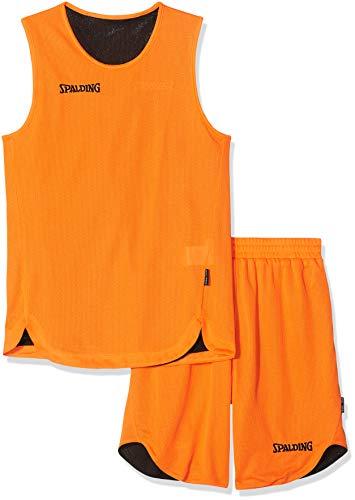 Spalding Kinder Bekleidung teamsport Doubleface Trikot set, 300401006, Mehrfarbig (orange/Schwarz), 140 cm, Gr. 140 cm