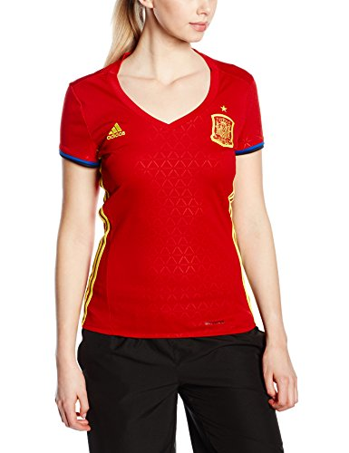 adidas Damen Trikot UEFA EURO 2016 Spanien Heim Replica, Scarlet/Bright Yellow, L