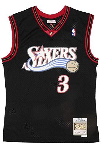 Mitchell & Ness Herren Shirt Philadelphia 76ERS   Allen Iverson 2000-01#3 - NBA Swingman Jersey weiß M