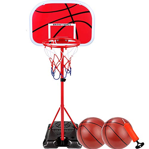 BXWQPP Outdoor und Indoor Basketballkorb mit Ständer Mobil Basketballständer Kinder im Basketballanlage Korbanlage Stabile und Bis zu 1,7 m Einstellbar