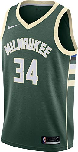 Nike Tausend M NK swgmn JSY Road Trikot Spieleredition Milwaukee Bucks Basketball 17–18, Herren M grün (fir/Flat Opal)