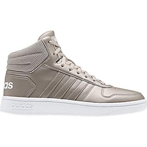 adidas Damen Hoops 2.0 Mid Basketballschuhe, Mehrfarbig (Metpla/Metpla/Ftwbla 000), 39 1/3 EU