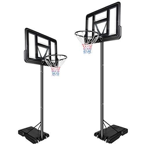YOLEO Basketballkorb 2,3 bis 3,05 Meter höhenverstellbar mit Ständer Korbanlage Outdoor beweglich für Erwachsene Kinder