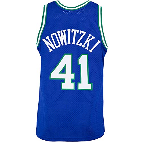 Mitchell & Ness Swingman Dirk Nowitzki Dallas Mavericks 98/99 Trikot (M, Blue/White)