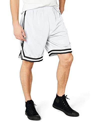 Urban Classics TB243 Herren Shorts Stripes Mesh, Gr. 54 (Herstellergröße: XL), Mehrfarbig (whtblkwht 244)
