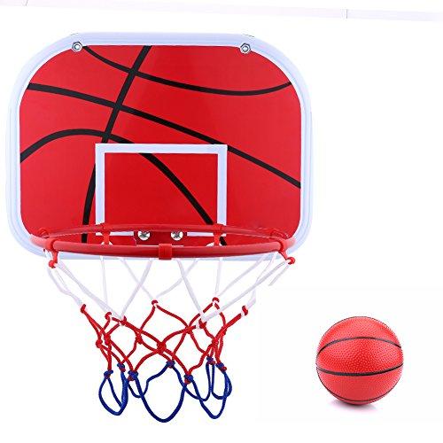 Dilwe Kinder Basketballkorb, Indoor Mini Basketballkorb Set, Einschließlich Pumpennetzhaken für Kinder, Geschwindigkeit