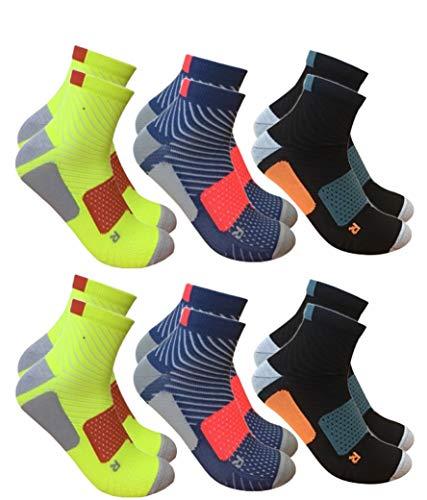 BestSale247 12 Paar Damen & Herren Sportsocken Kurze Sneaker Socken Laufsocken (Farbmix, 39-42)