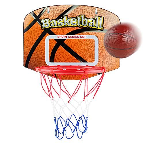 Basketballkorb Kinder fürs Zimmer Mini Basketball Spiel Set Basketball Korb für Draußen Drinnen Spielzeug Basketballkorb mit Ball und Bälle Pumpe Kinderspiele Geschenk für Jungen Mädchen 3+ Jahre Alt