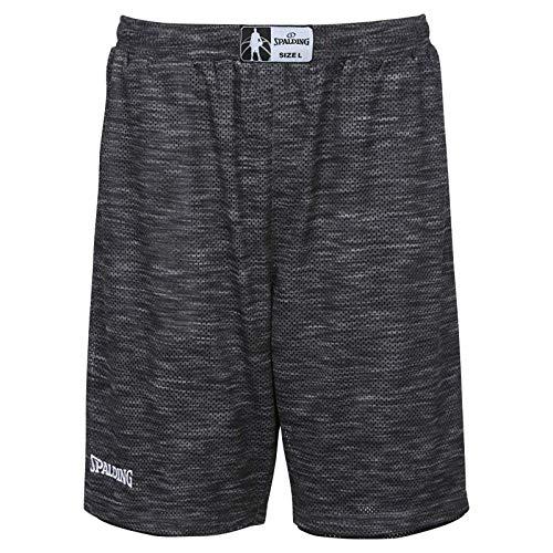 Spalding Herren Street Reversible Shorts, grau Melange/Schwarz, L